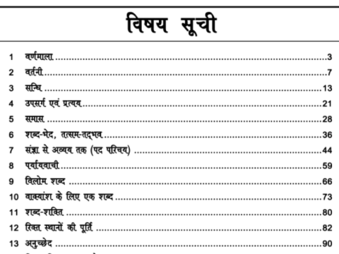 Hindi Grammar Notes For All Competitive Exams PDF
