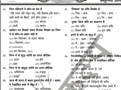 Hindi Important 2100 MCQ Notes PDF